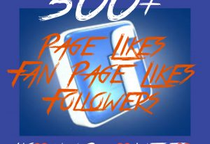 500+ Page/Fan page Likes or Followers at Instant with High quality Promotions,Real and 100% Organic.