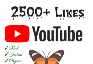 Add 2500+ YouTube Likes with high quality promotion, real, non dropped and work instantly.