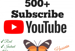 Add 500+ YouTube Subscribers with high quality promotion, real, non dropped and work instantly.