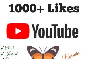 Add 1000+ YouTube Likes with high quality promotion, real, non dropped and work instantly.