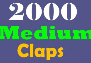 Get 2000+ Medium claps to your post