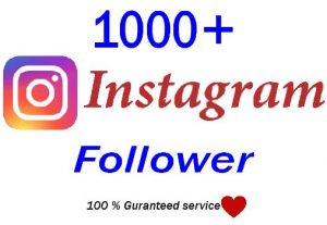 Get Instant 1000+ Instagram Followers,Real and Active User,Guranteed service for 7$