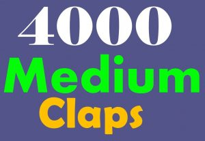 Get 4000+ Medium claps to your post