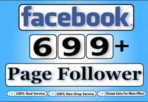 Get Facebook HQ 699+ Facebook Fan Page Follower,Life Time Guranteed Service For 5$