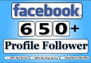 Get Facebook HQ 650+ Facebook Profile Follower,Life Time Guranteed Service For 5$