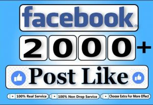 GET 2000+ Facebook HQ And Exclusive Post Like For $5