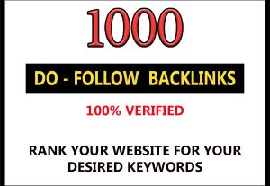 Provide 1000 do-follow back links for $4