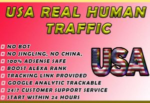Drive 15,000+ USA Real Human Traffic. Limited Time Offer Grab It Now for $4