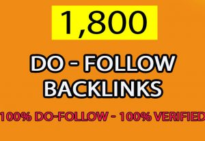 Provide 1,800 Do Follow back links for $5