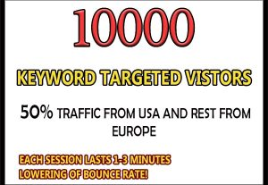 10,000 keyword targeted google organic traffic for $4