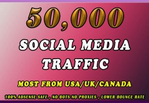I will send organic human traffic 50k by Google Yahoo etc