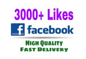 Add 3000+ Likes on your Facebook Post Instant. HQ & Nondrop.