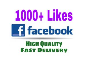 Add 1000+ Likes on your Facebook post Instant. HQ and Nondrop.
