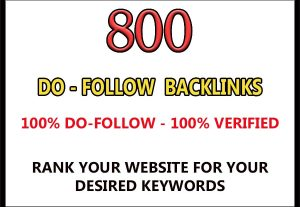 Provide 800 DoFollow back links for $4