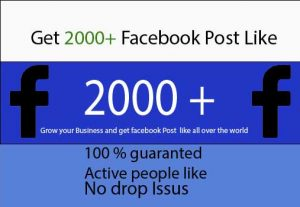 Get 2000+ Facebook Post Likes Only 5$