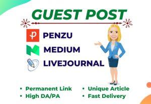 Write and publish High DA Guest Post SEO Authority Backlinks On DA 90+ Site
