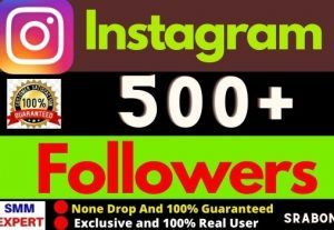 Add 500+ Exclusive Instagram Followers Instant, Organic and 100% Active User, Non-drop, Lifetime guarantee