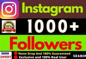 Get 1000+ Exclusive Instagram Followers Instant, Organic and 100% Active User, Non-drop, Lifetime guarantee