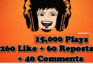 GET 150,000 PLAY SOUNDCLOUD + 260 LIKE + 60 REPOSTS + 40 COMMENTS
