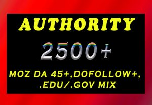 2500+ DA 45+, dofollow, EDU and GOV backlinks