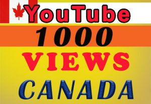 CANADA Targeted YouTube video views for $8