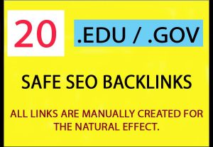 20+ EDU-GOV Safe SEO Backlinks Authority Site to Boost Your Google Ranking for $4