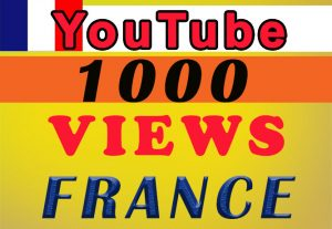 FRANCE Targeted YouTube video views for $8