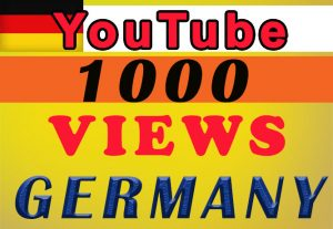 Germany Targeted YouTube video views for $8