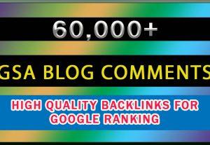 60K GSA Blog Comments High Quality Backlinks For Google Ranking