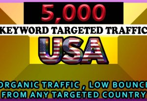 5000 organic keyword targeted traffic for $5