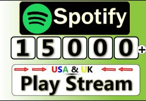 Get Unique 15000+ Spotify USA Plays from 15000 Different listeners,HQ Plays for 13$
