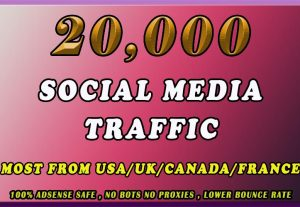20000 Real Organic visitors from google, yahoo etc..