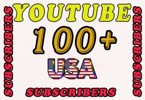 100+ USA Real YouTube Subscribers for $5