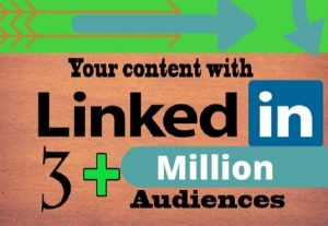 I will promote your content with 3 million linkedin audience