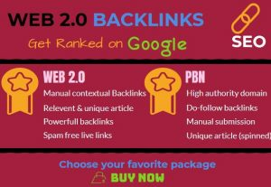 Manually Top 20 Web 2.0 blogs From PR9 site DA 70+ Backlinks Improve Ranking