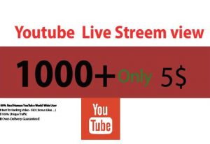 Get YouTube Live Stream 1000+ Views