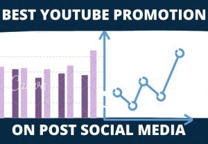 I can share on post best youtube promotion on social media