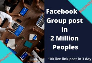I will post in facebook groups by promote your online