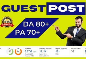 Dofollow Guest post on DA 90+ sites
