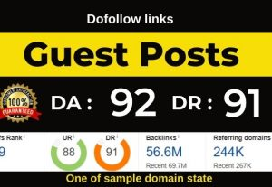 Dofollow Guest Post Link from high Authority site