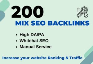 Quality Off-page SEO / Mix links service for website ranking