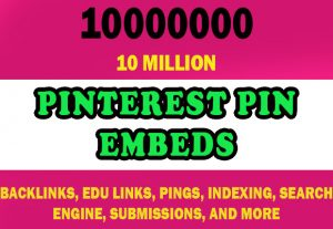 10 Million Pinterest Pin Embeds for $4