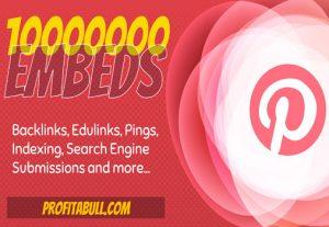 10 Million Pinterest Pin Embeds for Rank