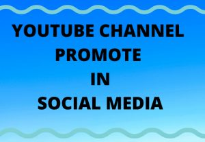 I can promote your youtube channel in social media