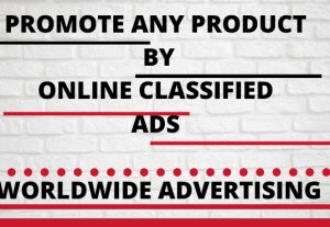 I will promote your product by online classified ads
