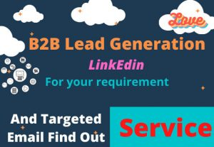 I will do b2b lead generation in linkedin