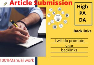 I will do manual article submission in high PR