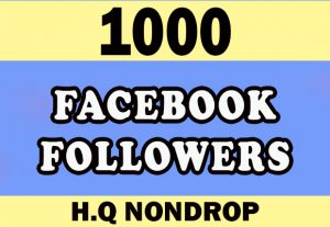1000 organic Non drop Facebook Followers for $9
