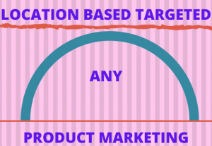 I will targeted location based any product marketing