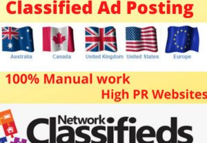 I will post your classified ads site to get more customers